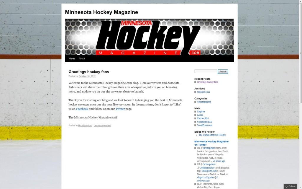 Minnesota Hockey Magazine's Blog